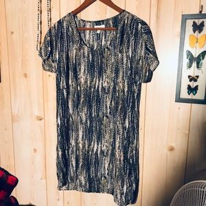 Silence + Noise dress with feathery pattern